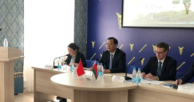 Meeting delegation from Yangzhou, PRC